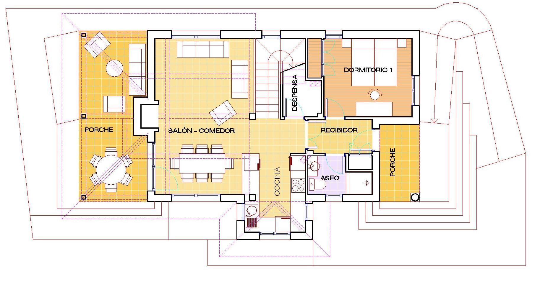 Arquitecto en cudillero asturias vivienda unifamiliar for Plantas de viviendas