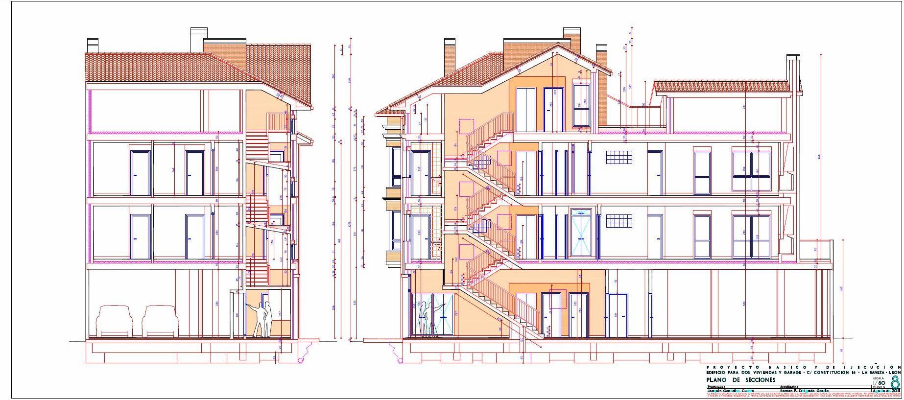 Arquitecto en cudillero asturias edificio de 2 for Planos de carpinteria de madera
