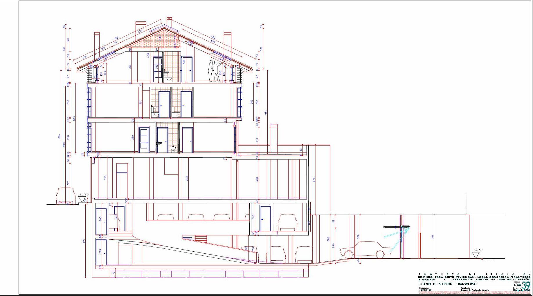 Arquitecto en cudillero asturias viviendas cand s plano for Planos en pdf arquitectura